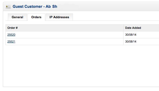 Opencart Guest Customer Order List
